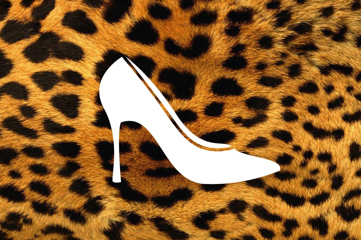 Pepeljuga u cipelicama s leopard uzorkom