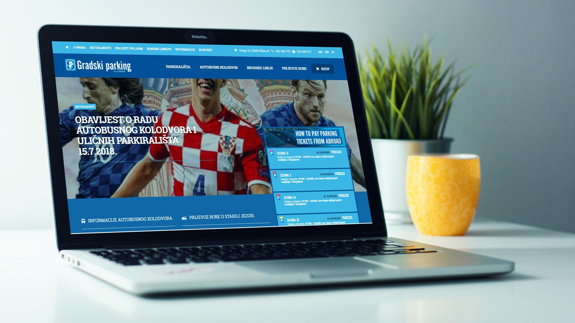 Internetska stranica komunalne tvrtke