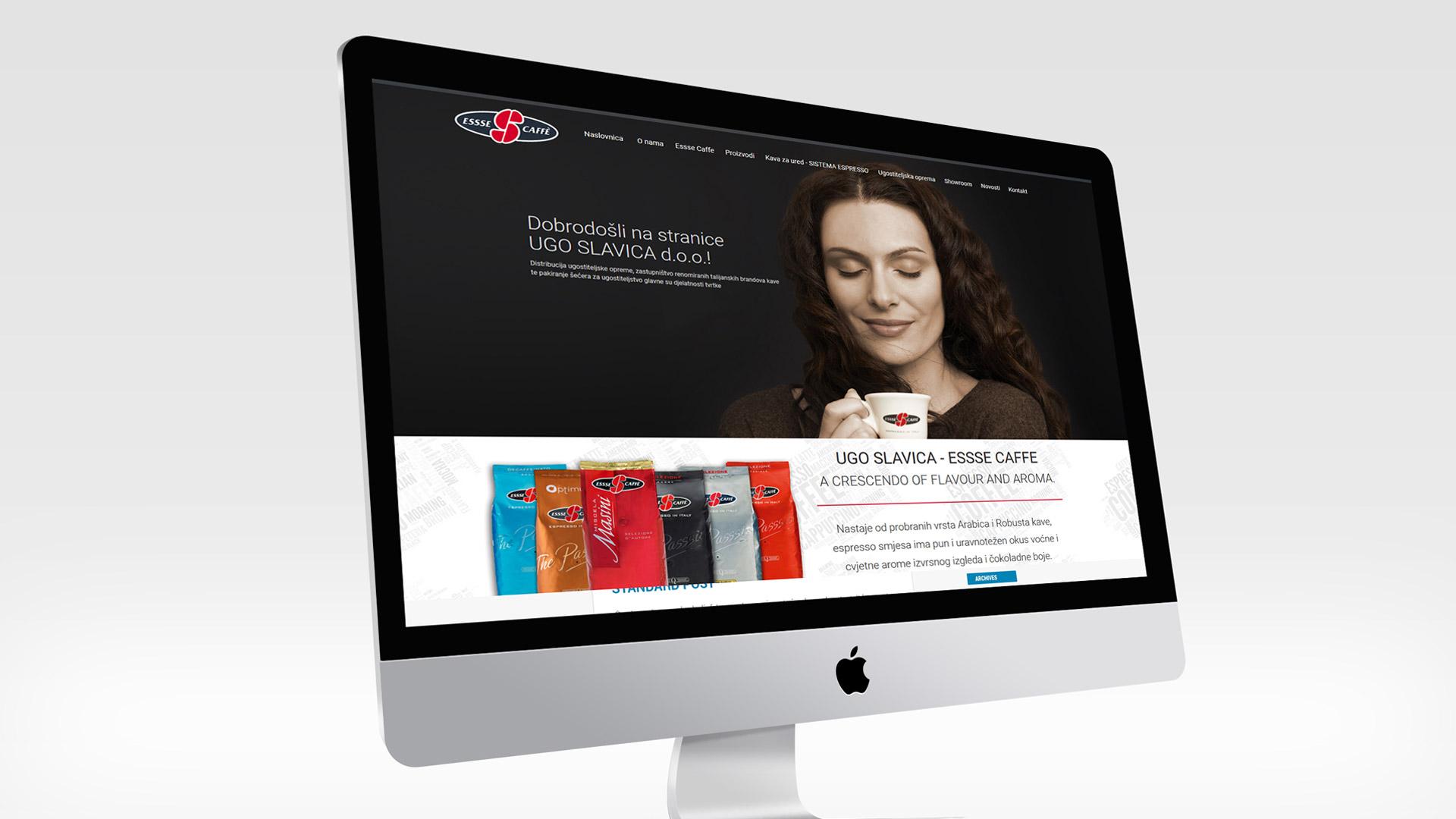 Web stranica distributera kave