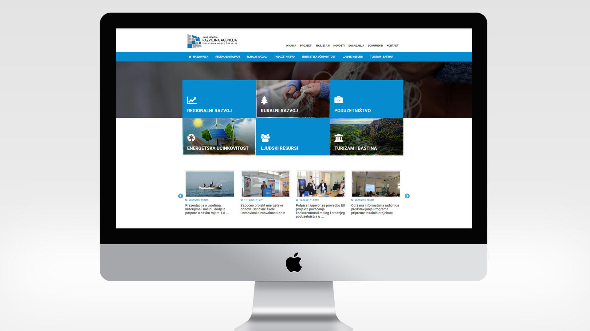 Internetske stranice razvojne agencije