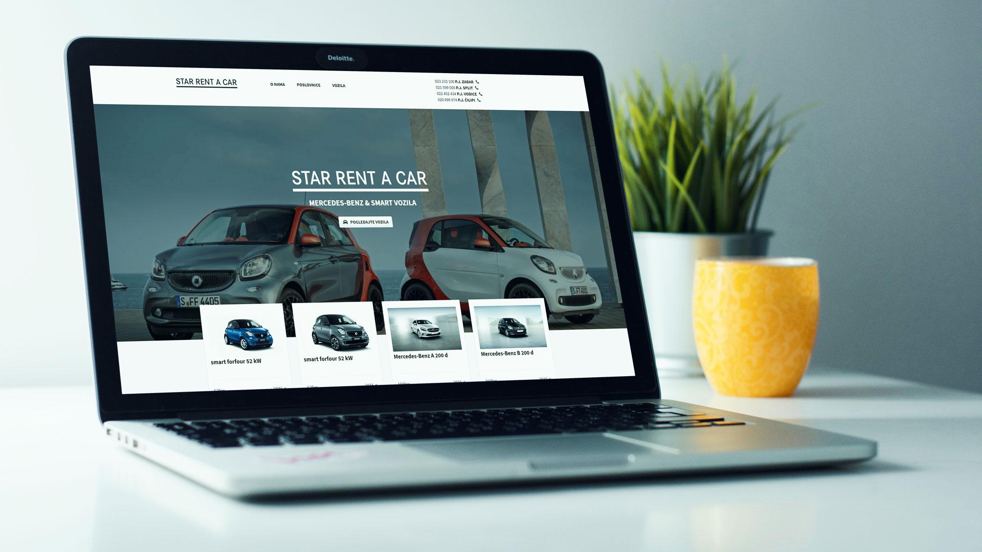Internet stranica rent a car agencije