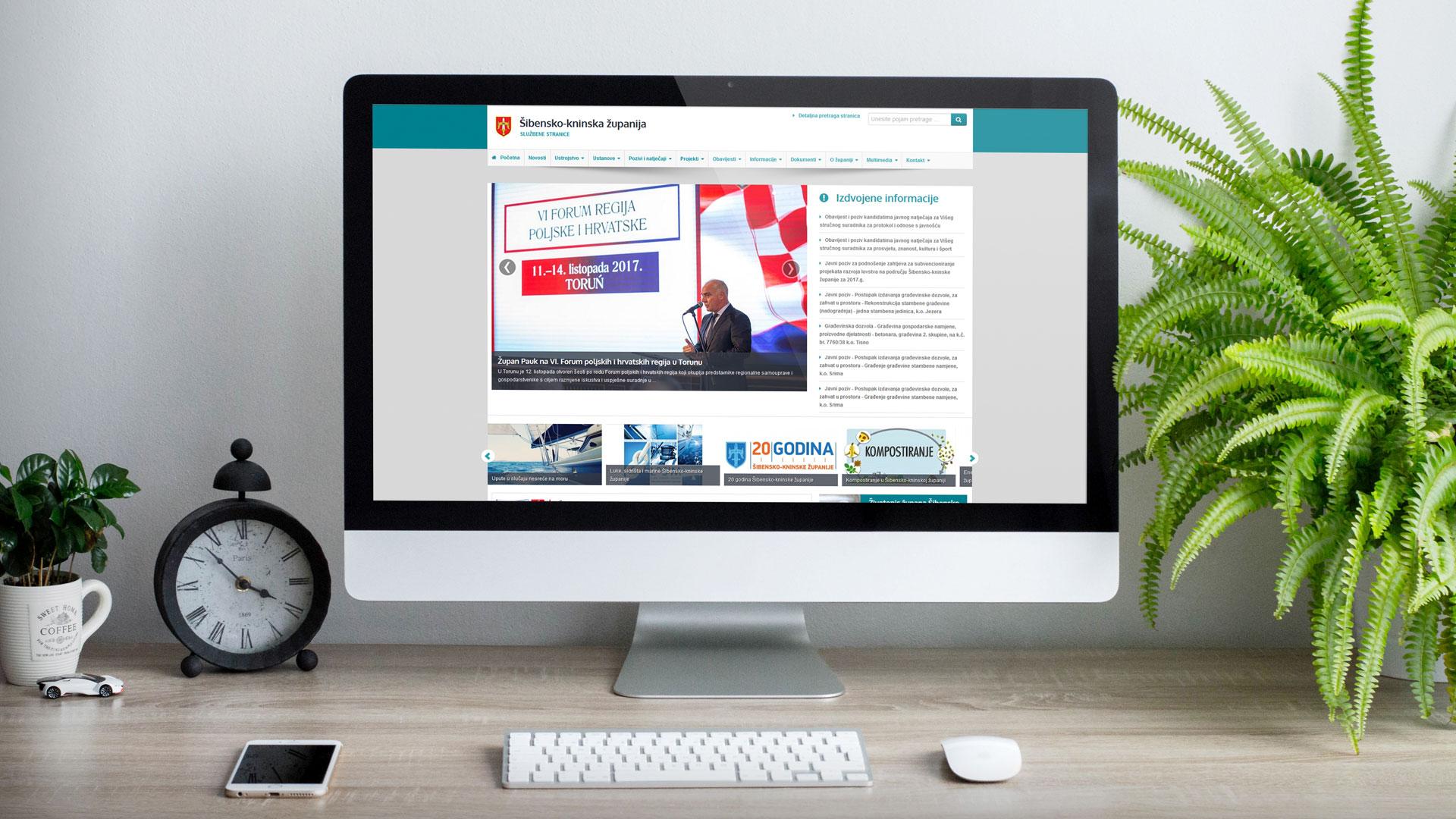 Službene internet stranice županije