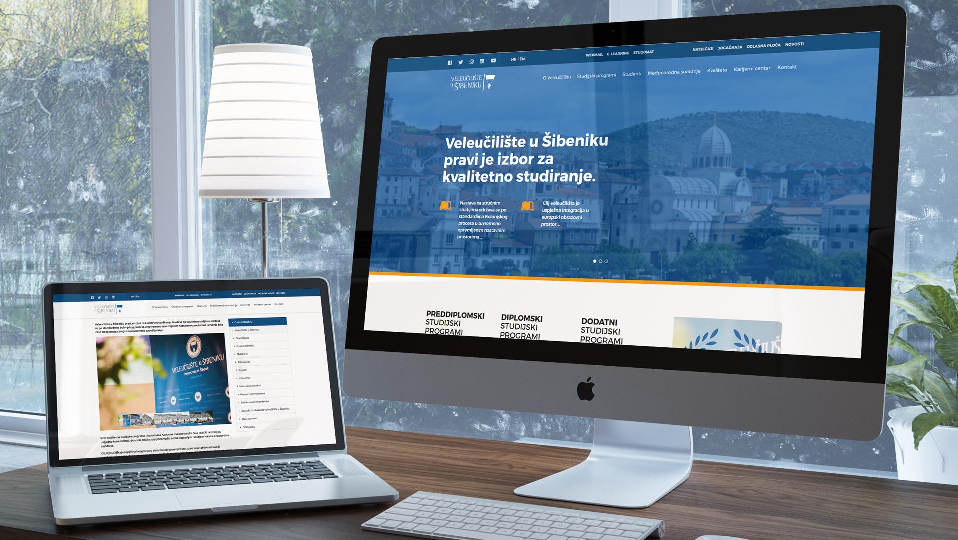Službene web stranice Veleučilišta u Šibeniku